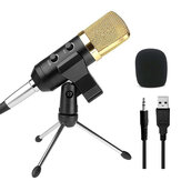 Audio Dynamic USB Kondensator Sound Recording Vocal Mikrofon Mic Mit Standmontage