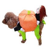 おかしいペット犬カボチャムートンスーツペットパーティーフェスティバルアパレル衣装コスチューム冬の洋服