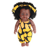 12 дюймов моделирование Soft Силиконовый винил ПВХ черный детская мода Кукла поворот на 360 ° африканская девушка идеальное возрождение Кукла