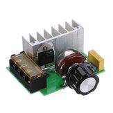 Высокая эффективность AC 0V-220V SCR Регулятор напряжения PWM Мотор Регулятор скорости вращения Двойной конденсатор с ручкой защиты от тока