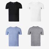 [FROM] UPPERSHUアウトドアスポーツラウンドカラーTシャツカジュアルな速乾性シャツハイキングウェア夏の通気性汗を吸収する旅行用コットンシャツ男性用