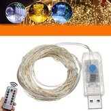 10M USB LED Rame Wire Fairy String Light 8 modalità Outdoor Strip lampada Wedding Christmas Party