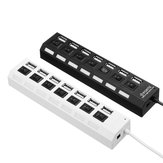 7 Port USB 2.0 HUB Splitter Switch Battery Box For LEGO LED Light Installing