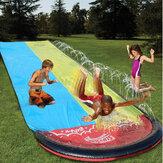 Inflatable Double Water Slide  Fun Outdoor Splash Slip For Children Summer Pool Kids Games