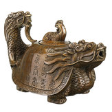 Vintage Chinese puur koperen koper Dragon Theepot Flagon handgemaakte Artwork Decor Theepot