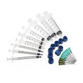 27 Stks / set Doseernaald Sets Blunt Tip Spuitnaalden Cap voor Navullen en Meten Vloeistoffen Industriële Lijm Applicator