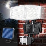 Solarbetriebene 100 LED 800LM Bewegungs-Sensor-Licht-justierbares Wand-Licht-wasserdichter Garten im Freien