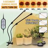 2/3/4 Kafalar 5730 USB LED Bitki Büyümek Işık Kısılabilir Zamanlayıcı 360 ° Esnek Klip Topraksız Bahçe Masa Tüp Lamba
