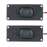 2Pcs 3 Inch Loudspeaker Passive Bass Vibrating Speaker Unit 3W 4Ohm for Computer LCD TV