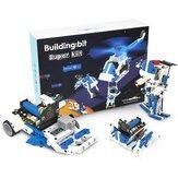 Kit de robot de bloque de construcción programable microbit inteligente Yahboom ensamblaje gráfico Python Robot educativo RC