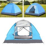 IPRee® 3-4 Personen Vollautomatisches Campingzelt 2 Türen Wasserdicht Winddicht UV-Schutz Sonnenschutz Baldachin Camping Wandern Angeln