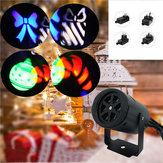 4W 2 Шаблоны Лазер Проектор LED Сценический свет На открытом воздухе Сад Пейзаж Рождественский декор Лампа