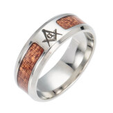 TrendyeinfügenCrossBaumdesLebens Muster Edelstahl Ring