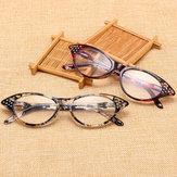 Resin Hyperopia Cat Eye Reading Glasses Fashion Full Frame