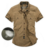 Outdoor Cotton Breathable Multi Pockets Work Shirts