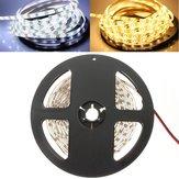 5M 24W 300LEDs SMD 3528 Puur Wit Warm Wit Flexibel LED Strip Licht Waterdicht DC12V