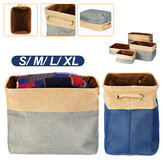 Eight Kinds of Cotton & Linen Blue/Grey Storage Basket Without Cover for Kid Toys