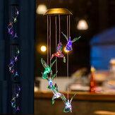 LED Solar Rüzgar Ahenge Açık Renk Değiştirme Hummingbird Ev Bahçe Asılı Lamba