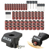 102pcs 80 Grit Sanding Drum Kit with Sanding and Grinding Guide Attachment Locator Positioner