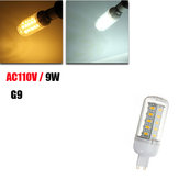 G9 9W 600LM White/Warm White 5730 SMD 36 LED Corn Light Bulb 110V