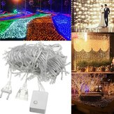 20M 200LED Vanntett Fairy String Light Jul Utendørs Bryllup Fest Lampe EU Plug AC220V