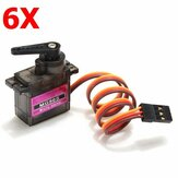 6X MG90S Metal Gear RC Micro Servo 9g for ZOHD Volantex Airplane RC Helicopter Car Boat Model
