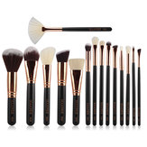 15 sztuk Zestaw kosmetyków MAANGE Makeup Cosmetic Pędzle Face Foundation Blush Blending Eyeshadow