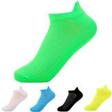 Colori fluorescenti mens cannuccia corta calze calze casual sport traspirante