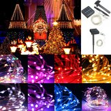 13M 120LED Outdoor Solar Power Sliver String Fairy Lichte Wedding Party Xmas Garden Lamp IP67