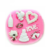 F0633 Silicone Christmas Love Heart Cake Mould Soap Chocolate Mold