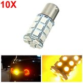 10pcs 21W 5050 27SMD LED Car Turn Signal Light Tail Lamp Reverse Bulb Yellow 12V