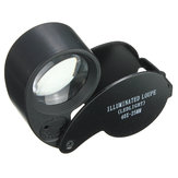 Eye Watch Magnifier Glass LED Light Jewelry Lens Loupe 40 X 25MM
