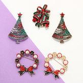 Weihnachtsfest Geschenk Reihen bunte Legierungs kleine Bell Öl Stifte Broschen