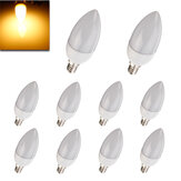 10XE14 2835 SMD 3W Warm White LED Candle Bulb Lamp AC 200-240V