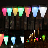 Garden Sol Power Colorful Byta LED-ljus Courtyard Lawn Path Stake Decoration Lamp