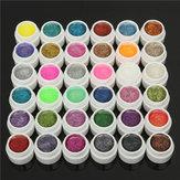 DANCINGNAIL 36 Renkler 5ml Küçük Parlak Parlak Toz UV Jel Oluşturucu Tırnak Sanat DIY Manikür
