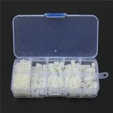 Suleve ™ M3NH9 M3 Nylon Tornillo Hexagonal blanca Tornillo Tuerca Nylon Kit surtido de separadores para PCB 300 piezas
