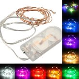 1M zasilany z baterii 10 LED drut miedziany Fairy String Light Wedding Christmas Party Lamp