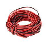 LUSTREON 10M Tinned Copper 22AWG 2 Pin Red Black DIY PVC Cabo elétrico Fio para LED Strip Lighting