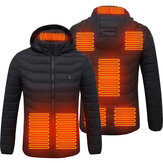 Unisex 8-Heating Electric Vest Heated Jacket USB Winter Body Warmer Windproof Coats