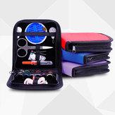 26Pcs de viaje Kit de costura de bolsas Emergencias Lleno de herramientas de costura Bolsa de almacenamiento con la aguja de tijera Hilo
