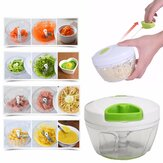 Manual Pull Corda Food Vegetable Blender Chopper Meat Hand Held Pull Slicer Picador