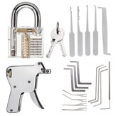 Entsperren von Locksmith Practice Lock Picks Key Extractor Vorhängeschloss Lockpick Tool Kits