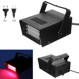 Mini 24LED 3W Rode Stage Flitsende Lichteffect Lamp Strobe DJ Disco Club Feest