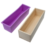 Silicone Soap Mold Rectangular Wooden Box with Flexible Liner for DIY Handmade Loaf Mould Soap Mold Soap Making Tools