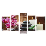 5 Pcs Wall Decorative Painting Flower Wall Decor Art Pictures Canvas Prints Home Office Hotel Decorations