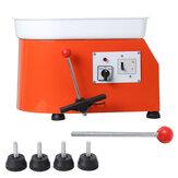 Máquina elétrica de roda de cerâmica 600 W 25 CM Cerâmico Máquina de ensino de arte em argila para artesanato