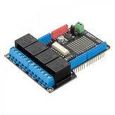 4 Relay Shield Uno Module 400mA 6-12V For Motors Pumps RobotDyn for Arduino - المنتجات التي تعمل مع لوحات Arduino الرسمية