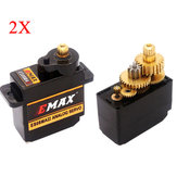 2X EMAX ES08MA II 12g Mini Metaal Gear Analoge Servo voor RC Model