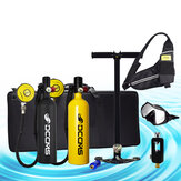DCCMS DS-810 8 stks / set 1L Portable Diving Scuba Tank Divers Spare Oxygen Equipment Vrije tijd Duiken Mini Zuurstoftank